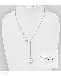 Colier din argint cu perla alba