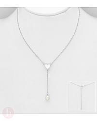 Colier din argint cu perla si inima