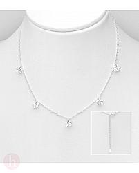 Colier din argint cu stelute si cristale