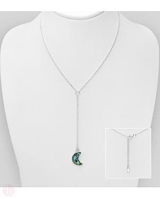 Colier din argint model luna cu scoica Abalone
