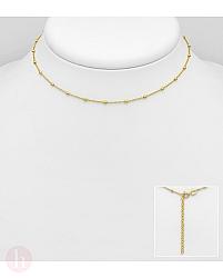Colier din argint placat cu aur, model cu bilute