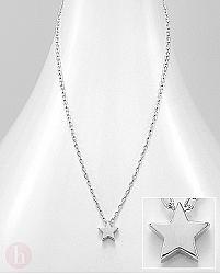 Colier din argint simplu cu stea