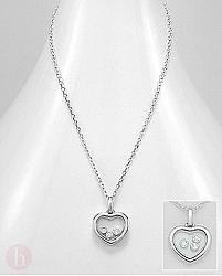 Colier inima cu cristale mobile