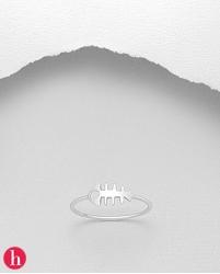 Inel argint fishbone