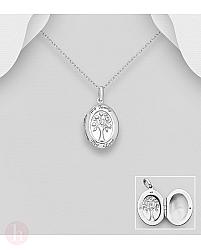 Pandantiv din argint pentru fotografie, model Tree of Life
