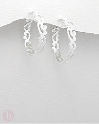 Cercei argint simplu veriga mare