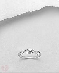 Inel argint 2 fire cristale Zirconia