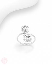 Inel argint deget picior cu spirale