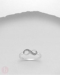 Inel argint infinit cu marcasite