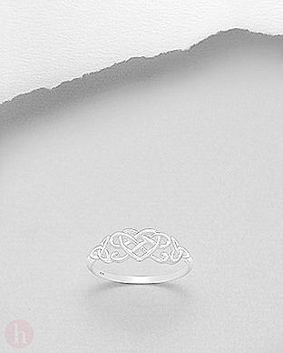 Inel argint inima model celtic