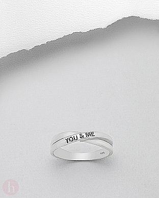 Inel argint model YOU & ME