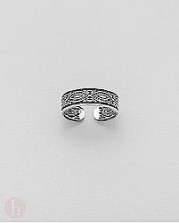 Inel argint pentru deget picior model cu soare
