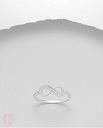 Inel argint simplu Infinity