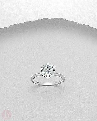 Inel de logodna cu cristal Swarovski