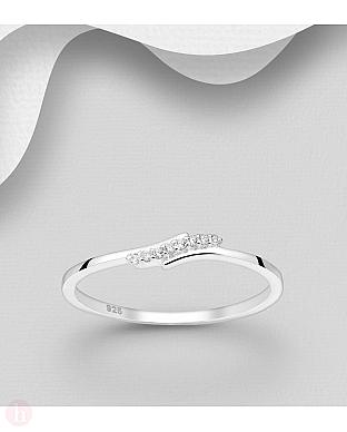 Inel din argint cu cristale