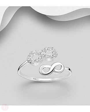 Inel din argint model infinit