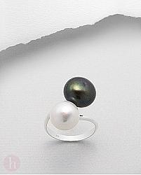 Inel din argint cu perle colorate