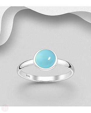 Inel din argint cu piatra semipretioasa bleu
