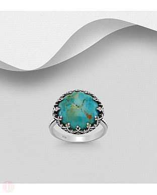Inel din argint cu piatra semipretioasa turcoaz