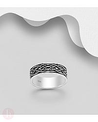 Inel din argint model celtic