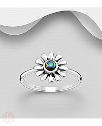 Inel din argint model floare