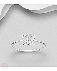 Inel din argint model fluture