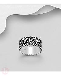 Inel din argint pentru barbati cu triskelion