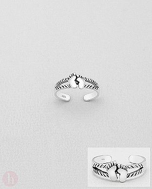 Inel din argint pentru picior model talpite