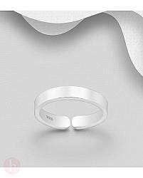 Inel din argint pentru picior model banda