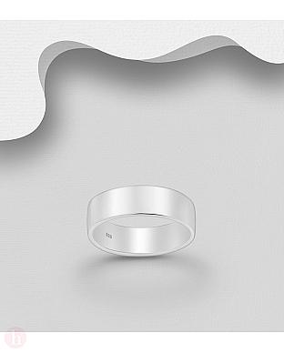 Inel lat argint pentru barbati