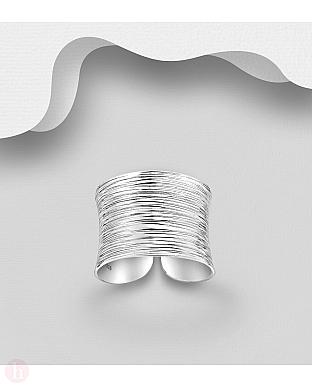 Inel lat din argint simplu