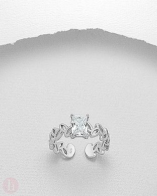Inel logodna cu piatra Cubic Zirconia mare