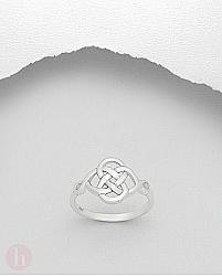 Inel model celtic floare