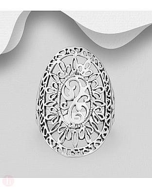 Inel din argint oval supradimensionat