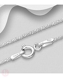 Lantisor din argint model veriga dantelata 45 cm