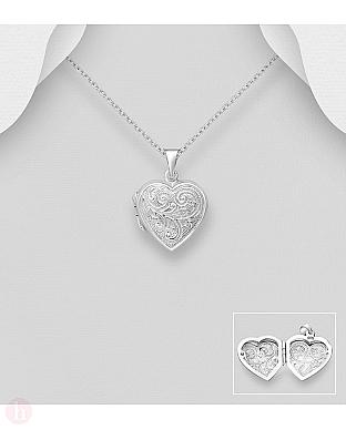Medalion argint inima fotografie