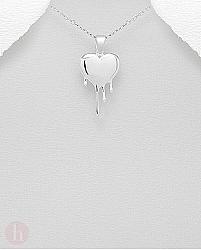 Medalion argint inima topita