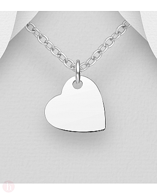 Medalion inima argint simplu