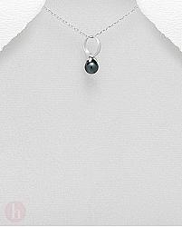 Pandant argint inel cu piatra hematit