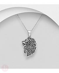 Pandant din argint model leu