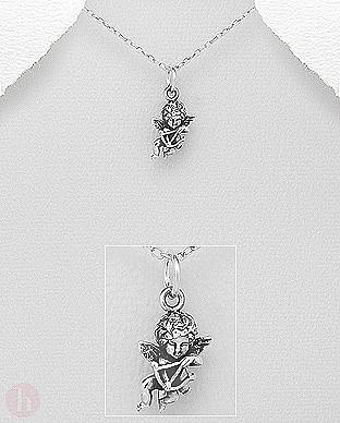 Pandantiv Cupidon din argint