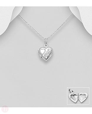 Pandantiv din argint inima pentru fotografie
