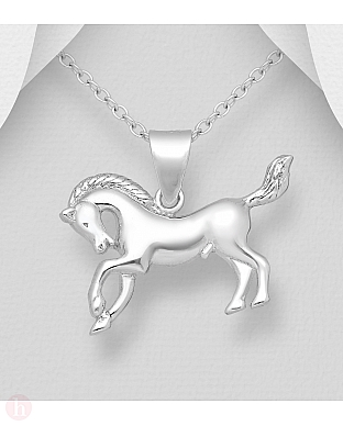 Pandantiv din argint model cal