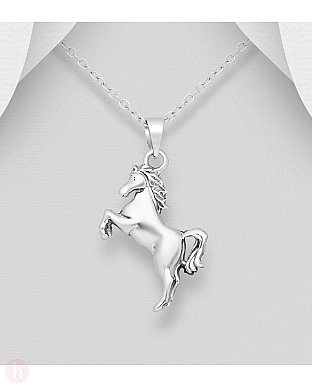 Pandantiv din argint simplu model cal