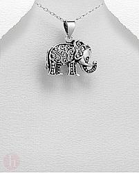 Pandantiv din argint model elefant