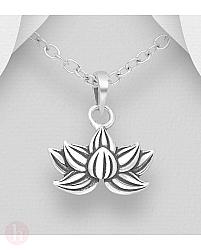 Pandantiv din argint model floare