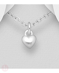 Pandantiv mic din argint model inima