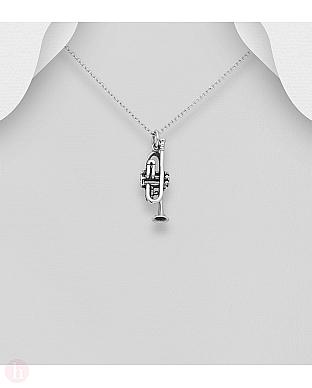 Pandantiv trompeta din argint